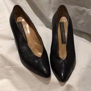 Vintage Maud Frizon embossed leather heels